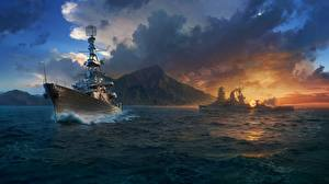 Pictures World Of Warship Ship Clouds vdeo game
