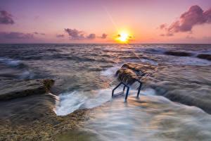 Bilder Spanien Meer Sonnenaufgänge und Sonnenuntergänge Sonne Horizont Alicante Natur