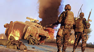Pictures Soldiers MICV ARMA 3 Games 3D_Graphics