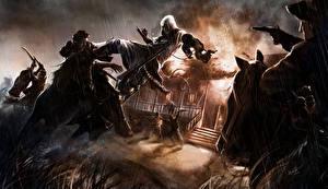 Bilder Assassin's Creed Krieger Mann Schlägerei Freedom of scars Spiele