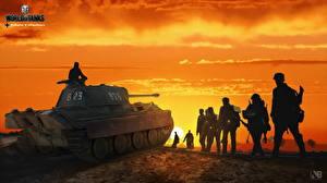 Hintergrundbilder WOT Panzer Soldaten Nikita Bolyakov Panther Spiele