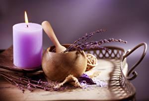 Hintergrundbilder Kerzen Lavendel