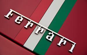 Fotos Logo Emblem Hautnah Ferrari Makrofotografie Autos