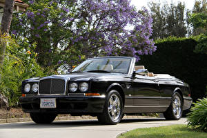 Hintergrundbilder Bentley Schwarz Cabriolet Metallisch Luxus 2002-2003 Azure Final Series Autos