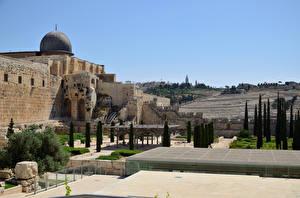 Bilder Israel Tempel Bäume Jerusalem