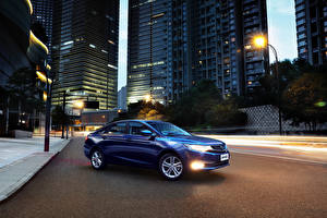 Images Roads Houses Geely Blue Automobile 2016 Emgrand GL Cars Cities