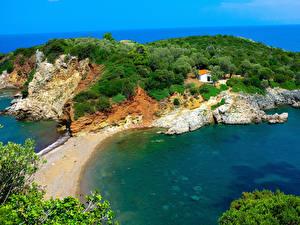 Bilder Griechenland Küste Agia Anna Beach Naxos Natur