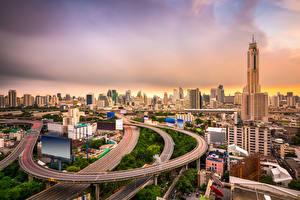 Sfondi desktop Bangkok Thailandia La casa Grattacielo Strade Città