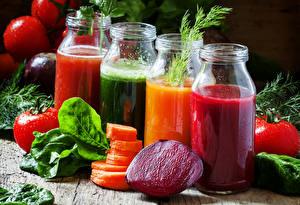Photo Drinks Juice Vegetables Jar Food
