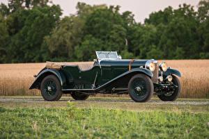 Bilder Bentley Retro Grün Seitlich Cabriolet 1932 8 Litre Tourer by Vanden Plas Autos