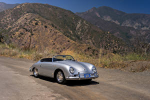 Pictures Porsche Retro Silver color Convertible 1958-59 356A 1600 Super Speedster by Reutter North America (T2) automobile