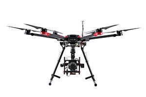 Fotos UAV Quadrokopter Weißer hintergrund drone, camera