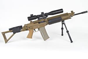 Photo Assault rifle White background SG 540 military