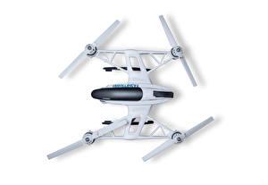 Fotos UAV Quadrocopter Weißer hintergrund dron