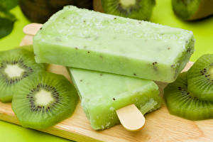 Pictures Confectionery Ice cream Kiwifruit Two Food