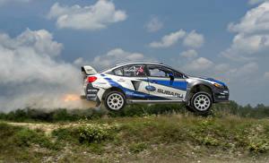Bilder Subaru Seitlich Fahren Rallye 2015-16 WRX STI America automobil