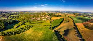 Images Czech Republic Landscape photography Fields Houses Velehradem Nature