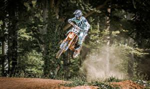 Images Motorcyclist Jump Uniform Helmet athletic