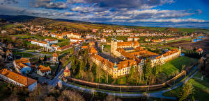 Images Czech Republic Building Roads Clouds Velehrad Cities