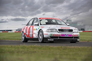 Wallpapers Audi Tuning White 1995-99 A4 quattro STW auto