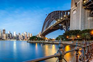 Hintergrundbilder Australien Brücken Haus Gebäude Sydney Straßenlaterne Bucht