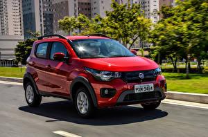 Fondos de escritorio Fiat Rojo Movimiento 2016 Mobi Way (344) autos