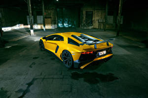 Picture Lamborghini Yellow Aventador LP 750-4 SV Superveloce Novitec Torado automobile