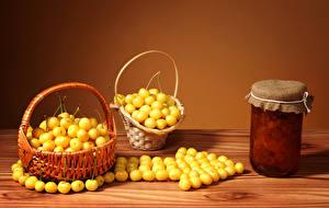 Wallpaper Fruit preserves Wicker basket Jar Food