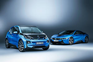 Picture BMW Two Light Blue i8 Coupe i3 auto