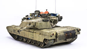 Image Tanks M1 Abrams White background US M1A1 military