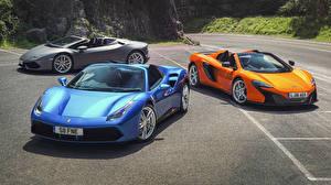 Hintergrundbilder McLaren Ferrari Lamborghini Drei 3 488, Lambo Huracan, 650S