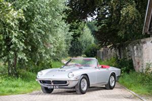 Wallpapers Maserati Vintage Silver color Cabriolet 1964-70 Mistral Spyder auto