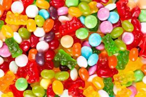 Bilder Bonbon Süßigkeiten Viel candies and jellies Lebensmittel