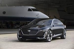 Hintergrundbilder Cadillac Graues Metallisch 2016 Escala Concept Autos