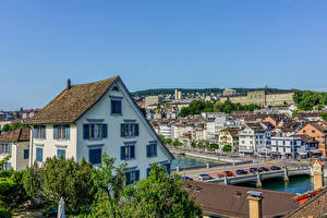 Photo Switzerland Building Bridges Zurich Cities