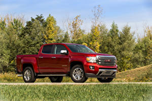 Wallpaper GMC Wine color Side 2016 GMC Canyon diesel