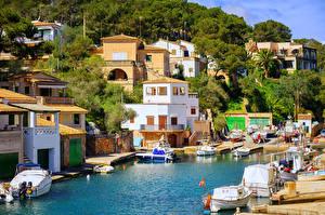 Fotos Spanien Resort Gebäude Schiffsanleger Segeln Motorboot Mallorca