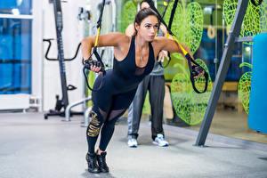 Bilder Fitness Trainieren Mädchens Sport