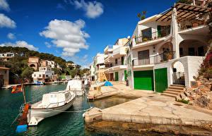 Fotos Spanien Resort Haus Seebrücke Boot Mallorca Cala Figuera