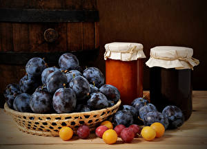 Images Plums Powidl Jar Food