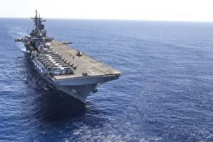 Wallpaper Aircraft carrier Ships amphibious assault ship USS Wasp (LHD 1)