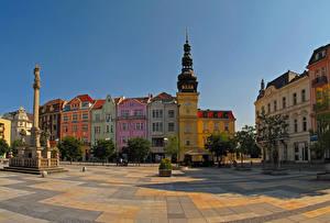 Wallpaper Czech Republic Houses Monuments Street Ostrava Cities