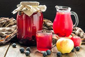 Wallpapers Drinks Apples Blueberries Pitcher Jar Highball glass Food