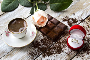 Picture Still-life Coffee Chocolate Roses Chocolate bar Cup Ring Box Cocoa solids Food