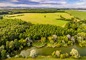 Wallpapers Czech Republic Landscape photography Rivers Fields Summer Forests Uhersky Ostroh Nature