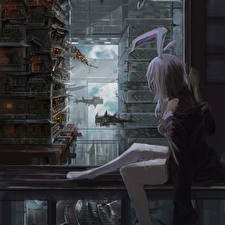 Wallpaper Bunnygirl Sitting Rabbit ears Reisen Udongein Inaba, Touhou, Du Xiedai Zhe Anime Girls