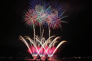 Image Fireworks Night time
