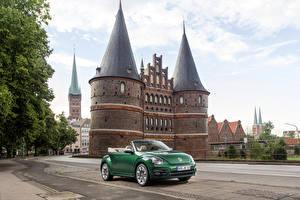 Hintergrundbilder Volkswagen Grün Cabrio 2016 Beetle auto