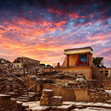 Hintergrundbilder Griechenland Ruinen Palast Knoss palase Crete