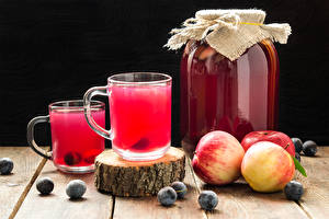 Picture Drinks Apples Plums Cup 2 Jar Food